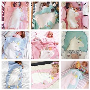 4 styles bébé enfants Licorne Couvertures Ins infantile enfants Licorne avec la crème glacée emmaillotée couverture photographie photographie