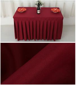 Banquete de la boda del rectángulo Tabla falda de poliéster cubierta Tabla Inicio Mantel para Hotel Sala de fuentes de la boda
