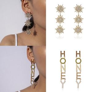 Kauf man ein frei baumeln Wortohrring afrikanischen Schmuck Ohrringe großen Kristall Ohrringe vergoldet Schmuck erhalten