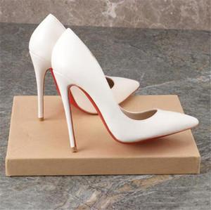 82020 roten unteren Pumpe Leder High Heels, spitzen High Heels für Frauen, sexy Stilettos für Frauen
