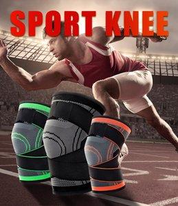 DHL Shipping! Joelho compressão Brace Sleeve aptidão que funciona Apoio exterior Desporto Knee Brace Protector Pad alívio da dor FY4087