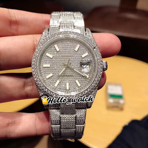 Nuovo 41 millimetri Diamond Dial Gabbiano 2824 Automatic Mens Watch 126333 126334 Stick Marcatori 904L design in acciaio braccialetto di diamanti wathces Hello_watch