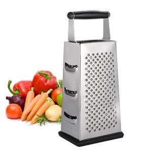 Cuadro de rallador de queso 4 lados Cuchillas cortador Verduras herramientas de acero inoxidable 9,8 pulgadas máquina de cortar para el Parmesano Ginger Fruit Salad JK1911