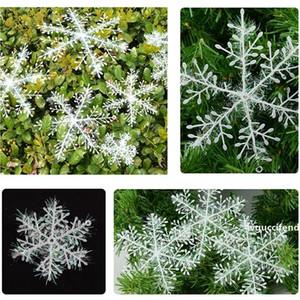 3pcs / lot Decoração de Natal Partido Decoração do floco de neve enfeites de natal Plastic Snow Flake Artificial Snowflake Suprimentos VT0538