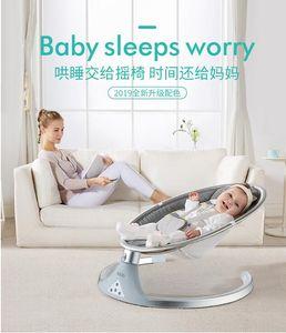 2019 yeni bebek elektrikli sallanan sandalye bebek beşiği recliner uyku yenidoğan rahatlatıcı sandalye saç biyonik çalkalayıcı ...