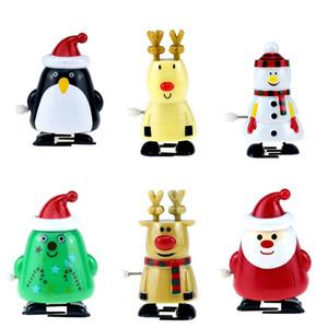 2020 7cm는 / 산타 클로스 무스 펭귄 귀여운 플라스틱 장난감 아기 어린이 조치 LA214 피규어 걷기 크리스마스 바람 - 최대 장난감 3 인치