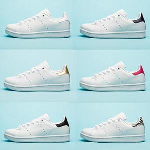 Adidas Stan Smith hombre zapatos de los planos Rojo Azul triple de plata para mujer negras blancas zapatilla de deporte al aire libre tamaño de los zapatos casuales 36-44