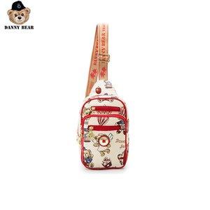 Ombro Danny Series Bear Peito Tecido Moda Bag Zipper Crossbody Bag para as Mulheres Homens DMB9915068