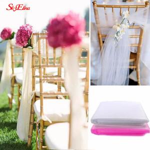 5м * 48 см белый розовый тюль рулон золотник Пачка DIY Таблица юбка свадьба день рождения украшение тюль органза ролл поставки 8Z