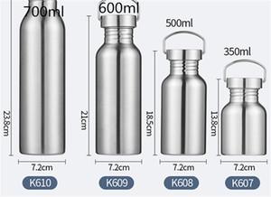 12 oz 16 oz 20 oz 25 oz Deportes botella de agua de 1 capa de acero inoxidable vaso de la taza del viaje Deportes Caldera de café