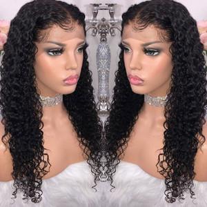 Orecchio 9A Grade Kinky ricci capelli umani brasiliani parrucche peruviano riccio crespo dei capelli umani Per Orecchio Frontal del merletto parrucca 4x13 merletto dei capelli umani della parte anteriore
