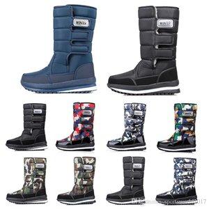 femmes design de luxe hommes bottes sur le genou Cuissardes neige bottes mens hiver Bottillons imperméables à l'eau plate-forme 36-45 de style Drop Shipping 15