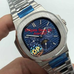 DP Factory 2019 New Sport Orologio Nautilus Moon Phase Marrone / Grigio Quadrante 5740 / 1G-001 Orologio automatico Mens Watch Bracciale in acciaio inossidabile Orologi di alta qualità