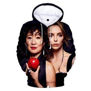 Moda Hoodies 3D Aikooki Killing Eve Homens / Mulheres Casual Boy Sweatshirt Pullover Com Capuz 3D Print Killing Eve Men Hoodie Top