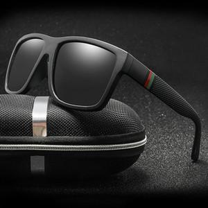 Classic Men Polarized Sunglasses Vintage Brand Design Sunglasses Square Driving Sun Glasses Retro Shades Eyewear Oculos de sol UV400 Gafas