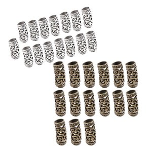 30pcs Dreadlock Beads Hair Rings Adjustable Hair Braid Cuff Clip Tubes Set