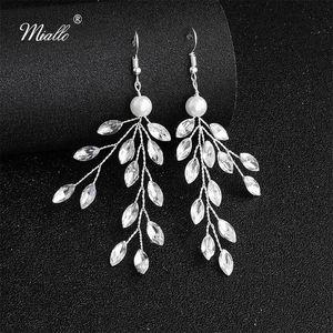 Miallo 2019 New Arrivals Handmade Wedding Drop Earrings Bridal Austrian Crystal Bride Bridesmaids Earrings for Women