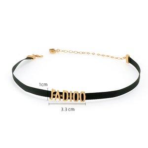 Classique lettre CD corde collier adapté pour bijoux cadeau pour la fête D Saint-Valentin des femmes