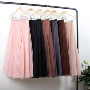 Corto tiempo de malla falda plisada 2020 de las mujeres falda larga ins super fire