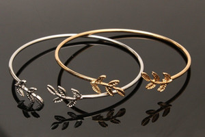 Tree Leaf Open Bracelets Bangles for Women Girls Jewelry Charm Bracelet Mother's Day Gifts Summer Beach Party Jewerly DHL Wholesale