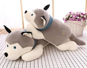 만화 허스키 봉제 인형 큰 장난감 허스키 개 인형 사랑스러운 동물 어린이 Corgi 봉제 베개