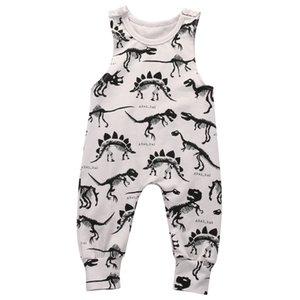 Conjunto de trajes de una pieza de mono de mameluco sin mangas de dinosaurio para bebés recién nacidos