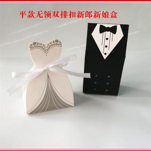 Sposo e la sposa vestito pieno di caramella di stile europeo Marry dolci scatole di favore di cerimonia nuziale caldo del regalo della festa di vendita 0 14wo UU