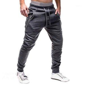 Herrenhose Männer Hip Hop Harem Jogger Fitness Casual Solid Herren Hosen Reißverschluss Schweiß 3xl1