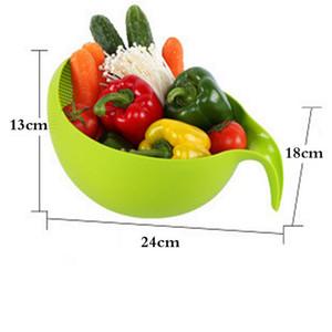 Riz Filtre lavage Passoire Panier Outils de cuisine en plastique Passoire Sieve alimentaire Beans Etat Sieve