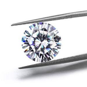 0.1ct à 7ct FL Couleur FL FL Ronde Brillante Coupée 8 coeurs 8 flèches Moissanite Stones Certified Lab Diamond avec un certificat