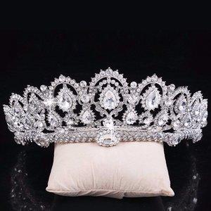 Блеск бисером кристаллы свадебные короны 2019 для невесты Свадебный Кристалл вуаль тиара Корона оголовье аксессуары для волос партия свадебная тиара CPA792