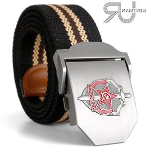 New Men & Women High Quality Belt 3d Soviet Glory Kgb Canvas Sports Belt Shield and Sword Cccp Luxury Jeans Tactical Belt