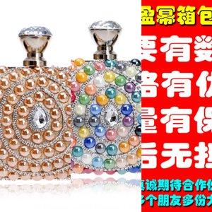 Water Drop Diamond ladies' banquet bride's Women gown evening dress bag exquisite dress hand-held evening banquet bag