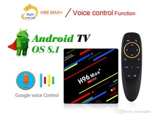 H96 Max+ Android TV Box 4G 32G Or 4G 64G Or Voice control RK3328 4K box 2.4G 5G WiFi Android 8.1 4K box