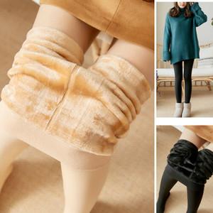 Yeni Moda Kadınlar Bayanlar Kış Termal Kaşmir Tayt Sıcak Yün Tayt Külotlu Dikişsiz Siyah Cilt Tayt