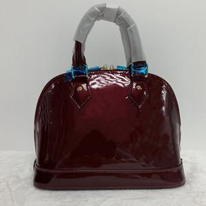 Luxo Bag Classic Shell Damier do couro envernizado Grade Bolsas Designer Bolsas Bolsas de Ombro Mulheres Canvas Crossbody Bolsa Tote pochette