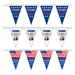 American Triangle Pull Flag Trump 2020 Make America Great Again Flags Party Decoration Hanging Banner American Flag RRA2025