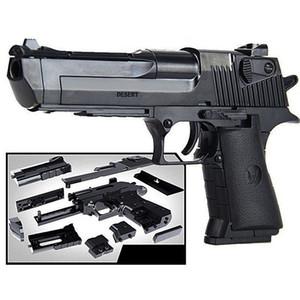 Plástico Desert Eagle Asamblea pistola de juguete Pistola Arma Pistola de aire Modelo de bricolaje rompecabezas de bloques Simulación pistola al aire libre Juguete de seguridad para niños