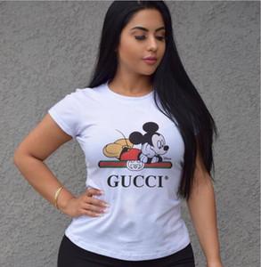 Maniche corte Donna Marca insieme a due pezzi cotone di alta qualità a coste Turtleneck ritaglio T-shirt alta Elastic Pencil Skirt