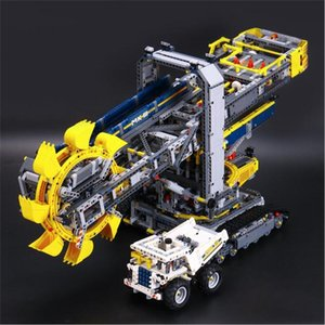 20015 3929pcs Technic Godet pelle sur pneus Set blocs de construction compatibles avec Legoed 42055 Jouets
