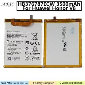 HB376787ECW 3500mAh Para Huawei Honor V8 Battery Replacement baterias de telefone Li-íon 3500mAh