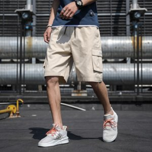 Casual Men's Pants 2020 Summer Arrive Casual Sport Theme Fashion Personality Over Size Five-minute Pants Four-Colores Selected Size: M-7XL