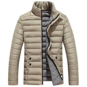 Speed Hiker Parka Hombres Chaqueta de invierno Algodón Acolchado Cálido espesar Abrigo corto Ropa Soporte Cuello sólido para hombre 5XL