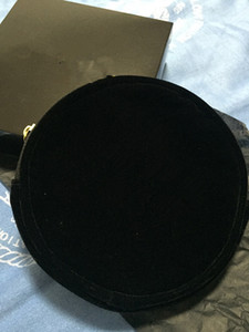 Bolsa de maquillaje de terciopelo negro Belleza Cosmética Cosmética Fiesta Maquillaje Organizador Bolsa elegante Bolso de embrague