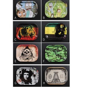 180*140mm E Cigarette tray Metal Rolling Tray Durable Art Scroll Tray New Funny Fantastic Design grinder smoke pipe