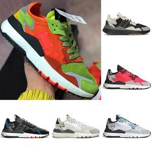adidas nite jogger Spor ayakkabılar İZ PINK Tasarımcı Spor Daire Kadınlar Eğitmenler Size36-45 Koşu Hight kalite koşucu Ayakkabı Yol Güvenliği Üçlü beyaz Kırmızı Gri Erkek