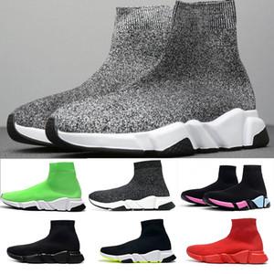 2019 ACE Tasarımcı gündelik çorap Ayakkabı Hız Eğitmen Siyah Kırmızı Üçlü Siyah Moda Çorap Sneaker Trainer rahat ayakkabı 36-47