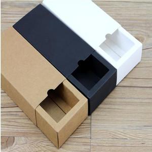 20 pz / lotto bianco / nero / kraft confezione regalo vendita al dettaglio nero kraft carta cassetto scatola, regalo in bianco scatole di cartone scatola di cartone
