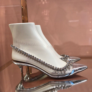OllyMurs 2020 Новая мода женская обувь сандалии прозрачный кристалл сексуальный