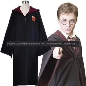 5UCHN Potter roupas robe Glenn cosplaycostume cosplay Harry Potter robe Harry manto manto roupa varinha mágica Glenn cosplaycostume cospla